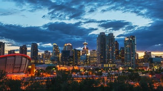 Calgary Night Skyline