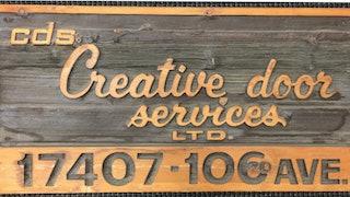 Creative Door wooden sign