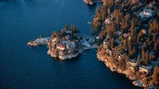 Aerial British Columbia Coast Development