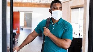 Business Man Wearing Mask Min