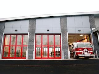 Saskatoon Fire Hall Garage Door Install