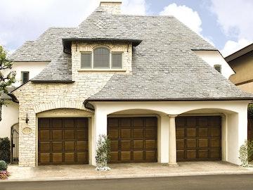 Wood 310-317 residential garage doors