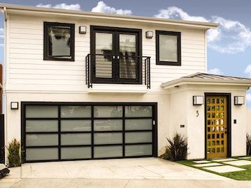 Modern Glass 8800 garage door