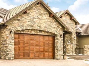 Wood 300 residential garage door