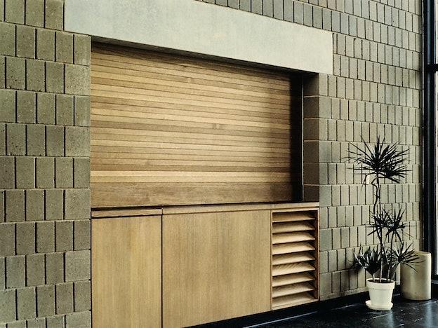 Wood Rolling Shutter commercial door