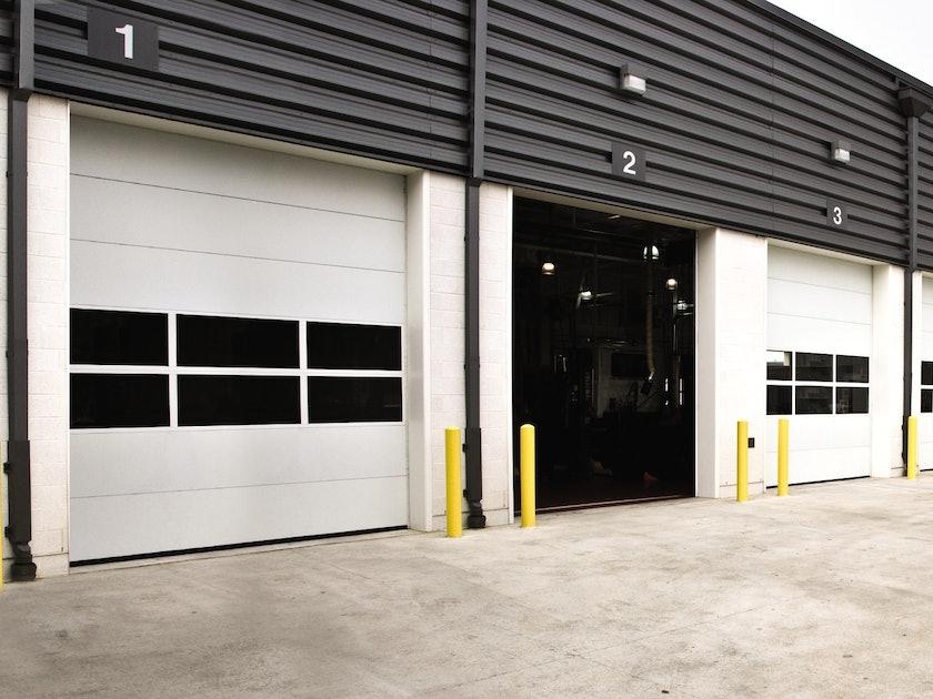Sectional Steel Door Model 220 garage door