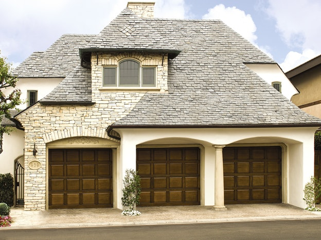Wood 310-317 garage door
